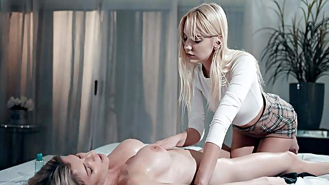 Most addictive lezzie moments for two amazing chicks