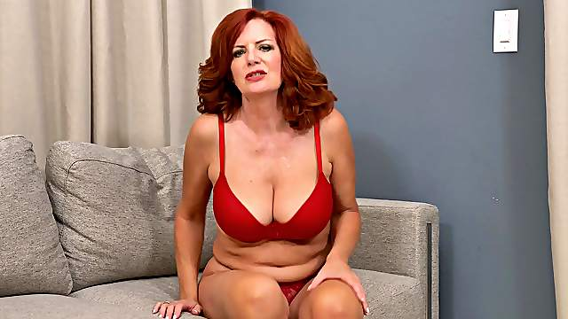 Mature redhead Andi James knows how to make herself feel fabulous