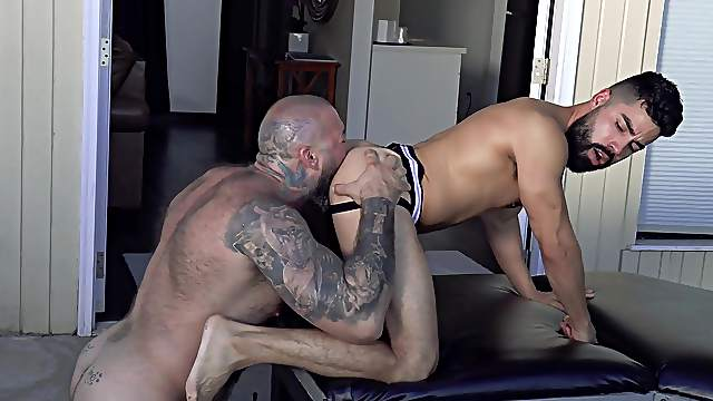 Masculine passion shared between Alexander Kristov and David Cruise