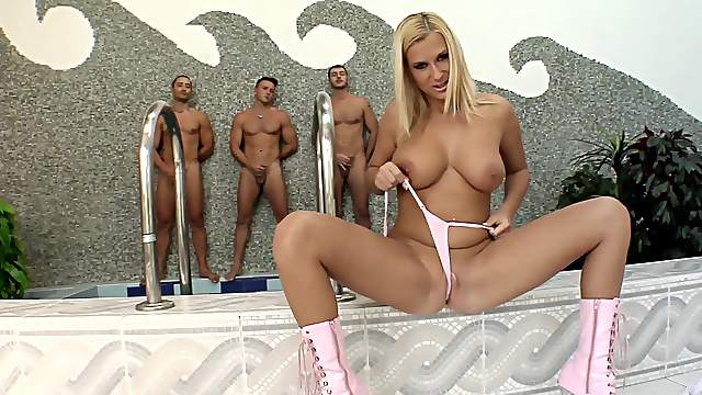 Hot blonde with big tits, most addictive cam play