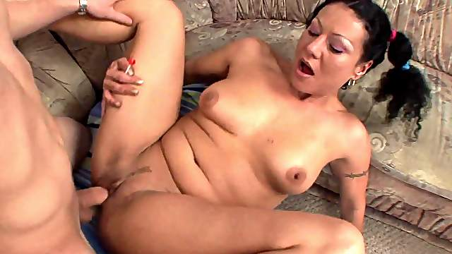 Insane missionary and cum on tits for the horny wife