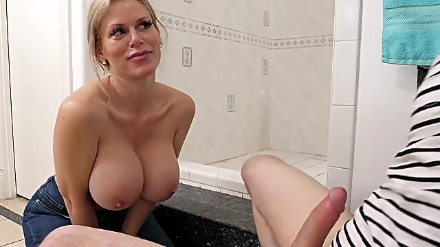 Filthy stepmom Casca Akashova gives her stepson quite a surprise