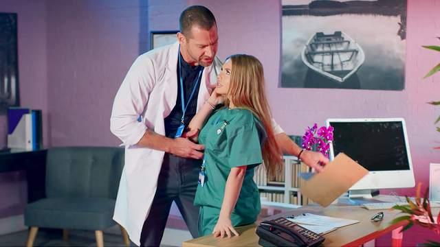 Horny doctor drills hard his dirty nurse - Alessandra Jane. HD