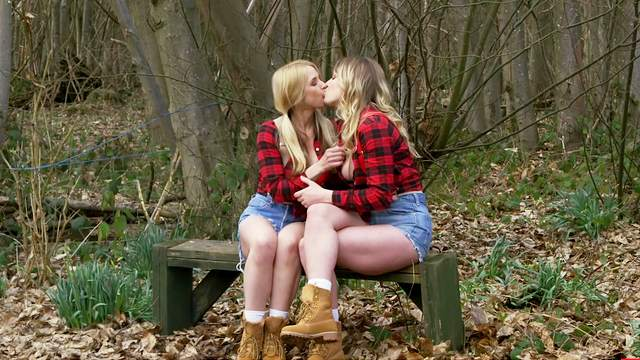 Outdoor FFM threesome with Sarah Vandella and Giselle Palmer