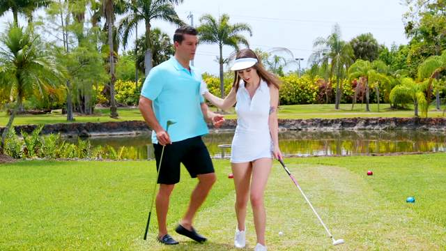 Shae Celestine ends a day on the golf course with a rewarding bang