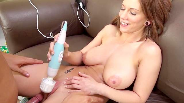 Busty solo babe would love a bit of dick into her solo play