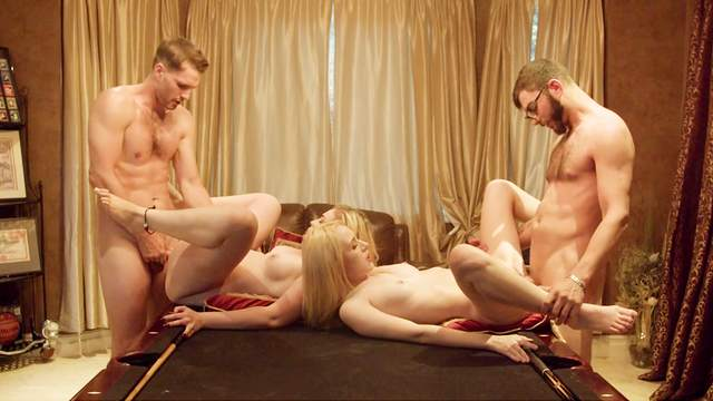 Foursome for the young babes after they decide to swap partners
