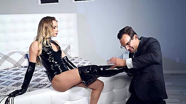 Personal assistant Naomi Swann knows how to please the boss man