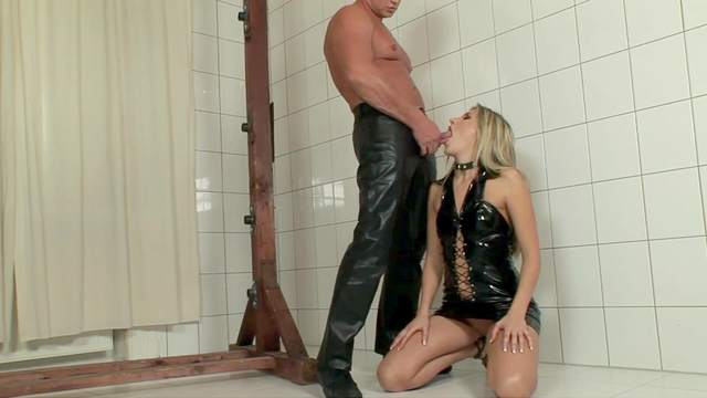 BDSM video with maledom over Cherry Jul being whipped hard
